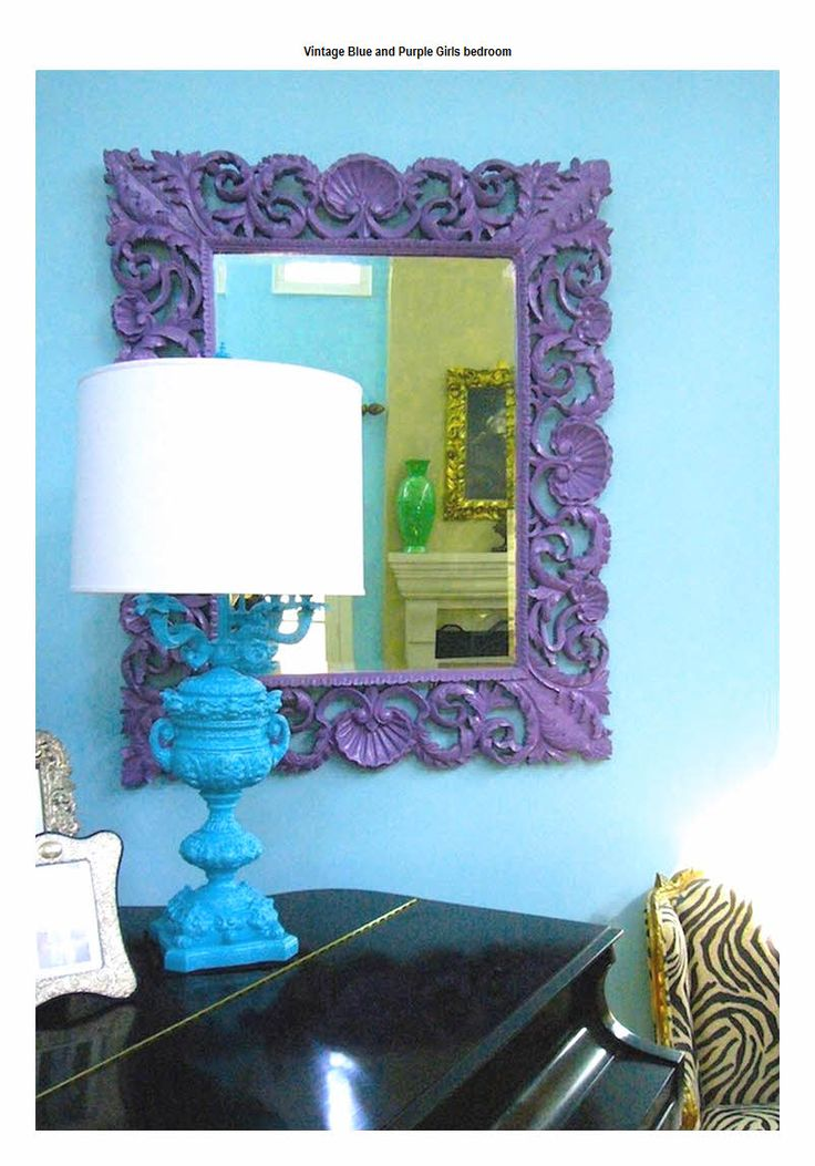 Purple and blue bedroom ideas