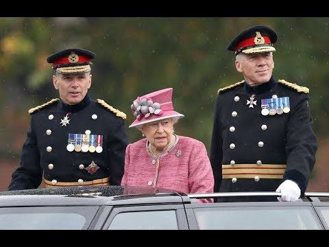 HM Queen Elizabeth II attends The King's Troop 70th Anniversary Parade