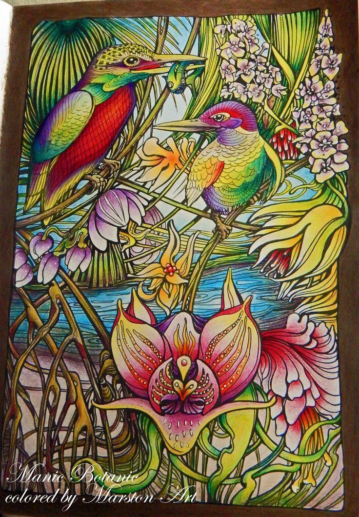 Manic Botanic von Irina Vinnik, koloriert von Marston Art