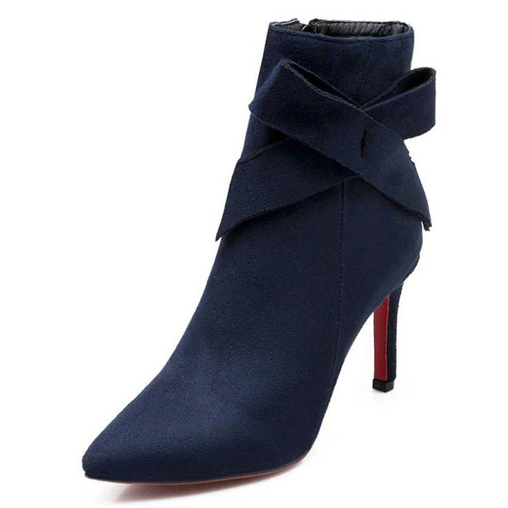 Купить товарНовинка высокий каблук ботильоны платформа острым носом весна осень сапоги для женщин сладкий с бантом бедра высокие сапоги в категории Сапоги и ботинкина AliExpress.        ENMAYERwomen PumpsClosed Toe Pointed Toe Square Heel Platform Pumps Beading Fashion Shoes Pumps   2015 New Large