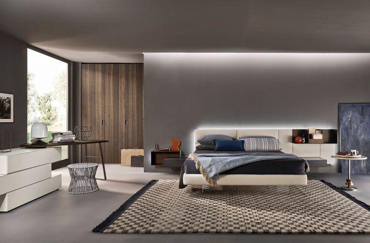 Modernes schlafzimmer von livitalia mit schwebendem bett - Schlafzimmer schminktisch ...