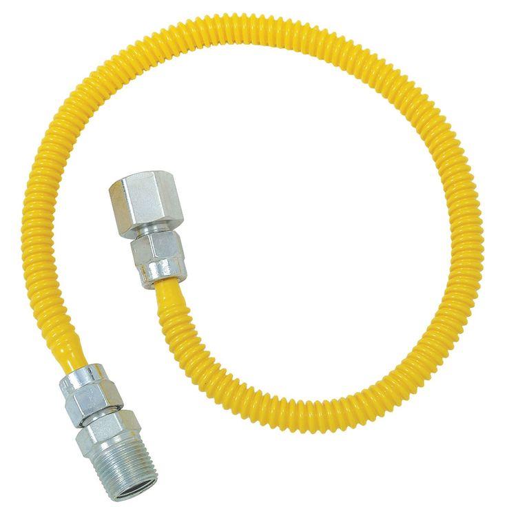 "Brass Craft CSSL54-36P 36"" Stainless Steel Gas Dryer Connector"