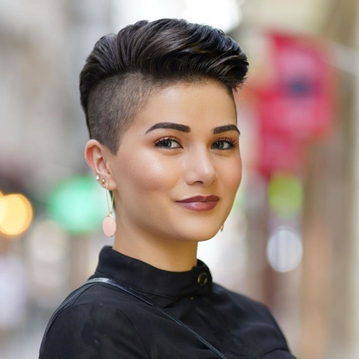 Shaved sides hairstyles for women