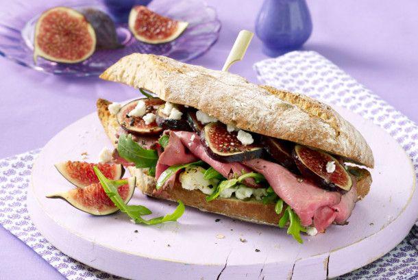 Unser beliebtes Rezept für Warmes Roastbeef-Feigen-Sandwich und mehr als 55.000 weitere kostenlose Rezepte auf LECKER.de.