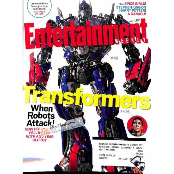 Entertainment Weekly, July 13 2007 | $1.98