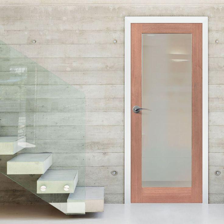 P10 Mahogany Full Pane Door - Safety Glass Options. #internalglazedmahoganydoor #internalglazeddoor #mahoganydoor