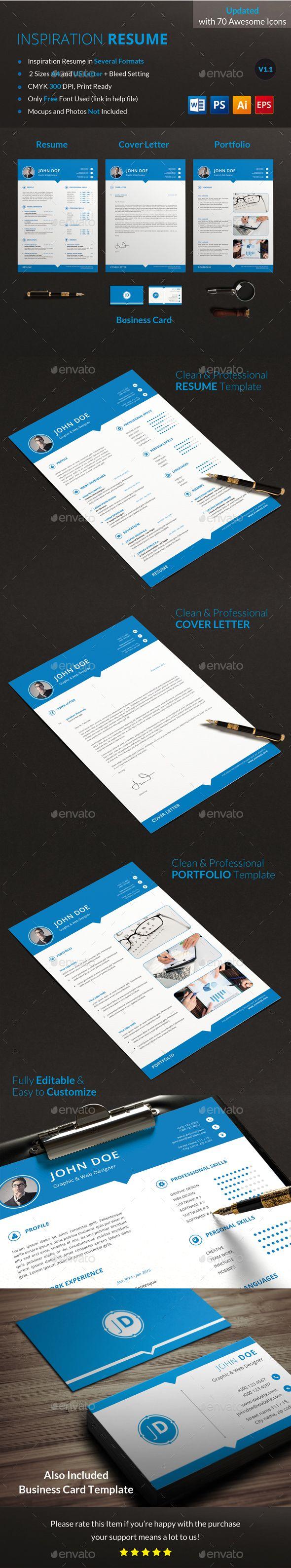Resume Set Resumes Stationery Microsoft