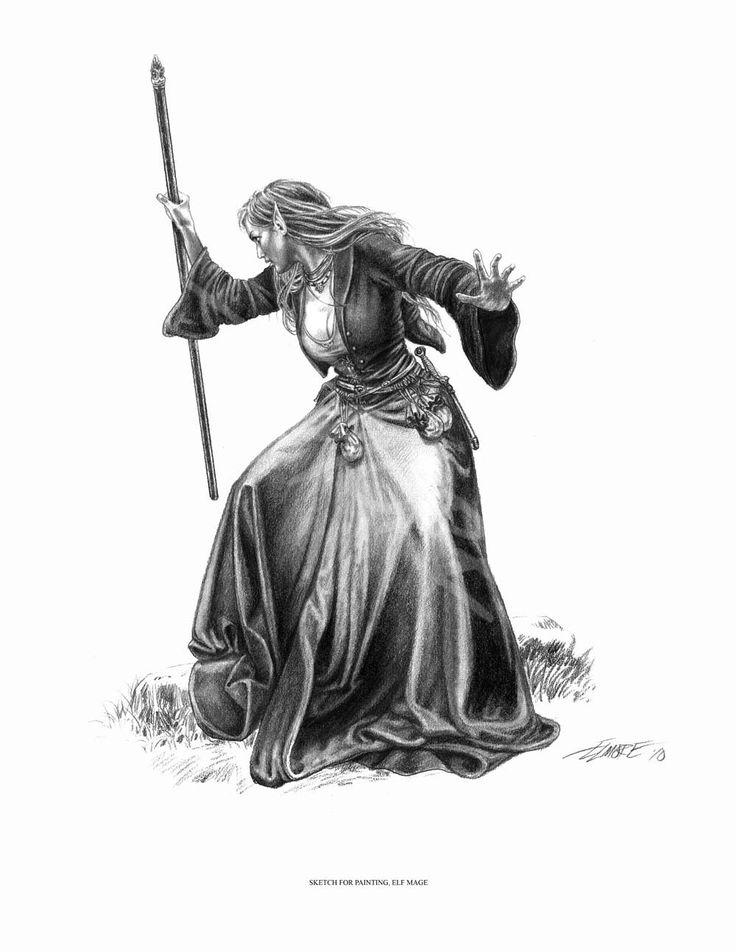 Noob Mage By Joshcorpuz85 Female Druid Witch Sorceress: Fantasy Art, Larry