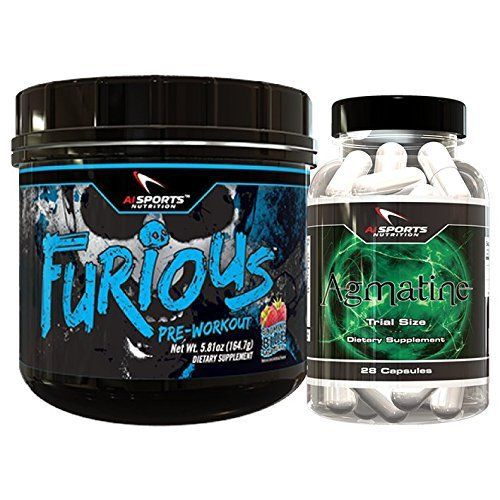 AI Sport Nutrition Furious Blue Raspberry Bonus Pack. 1 30 Serving Blue raspberry Furious plus 1 FREE seven day Agmatine Mini Bottle. Amazing Energy And Pumps by AI Sports Nutrition - http://www.exercisejoy.com/ai-sport-nutrition-furious-blue-raspberry-bonus-pack-1-30-serving-blue-raspberry-furious-plus-1-free-seven-day-agmatine-mini-bottle-amazing-energy-and-pumps-by-ai-sports-nutrition/fitness/