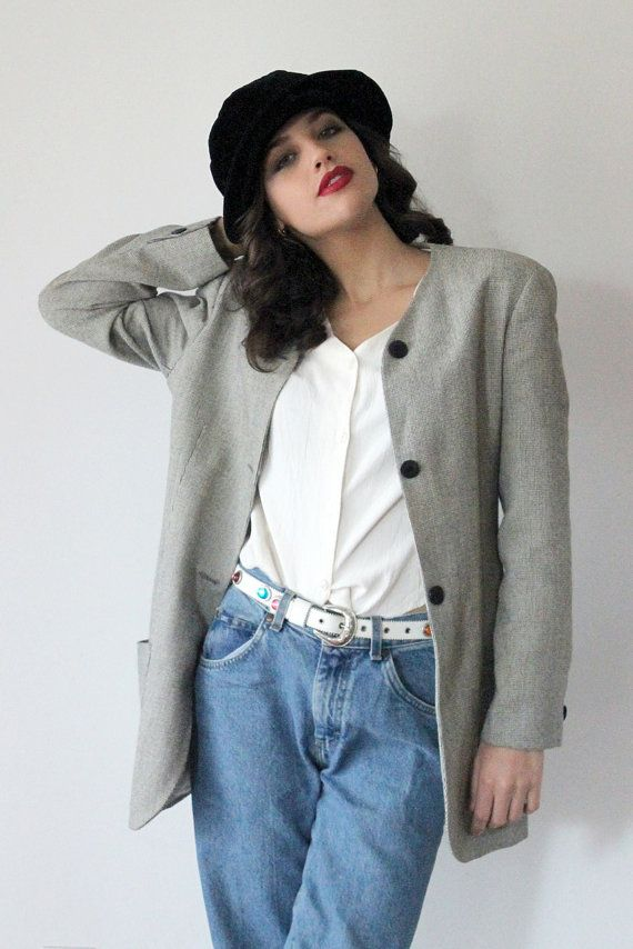 Coupon Sale 40% OFF  90s Grunge Blazer Jacket // by LaChouetteSage
