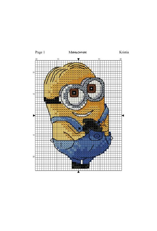 Minion cross stitch