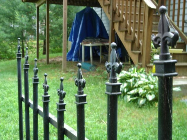 Here is another really easy cemetary fence made of pvc pipe & wood