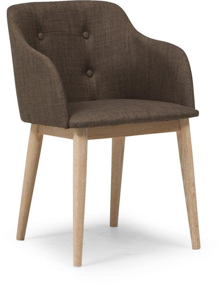 Corpus helklädd stol i tyg med vitsåpade ben - Möbelmästarna Trollhättan