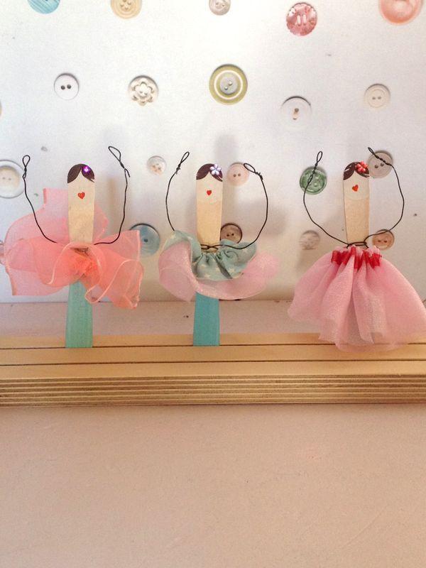zum schönen Schluss noch ein Diamant in die Frisur kleben. Die Ballerinas : zur Dekoration in einem Blumentopf, auf einem Kranz oder als Tischdeko.
