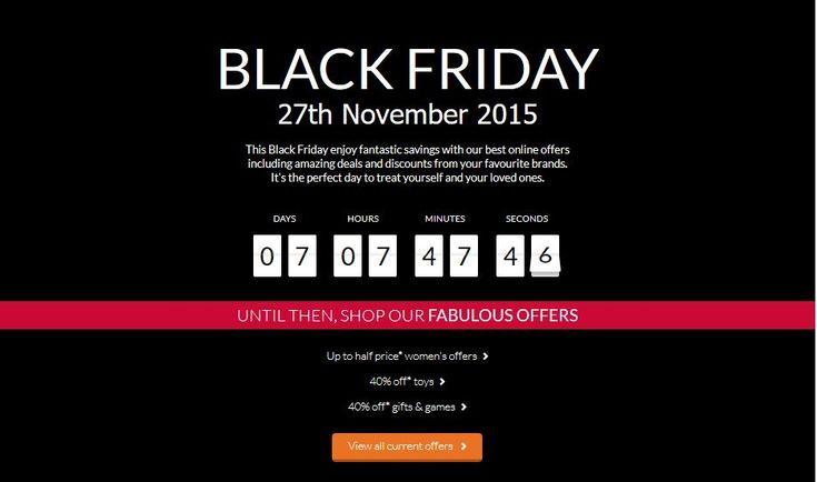 Debenhams Black Friday Deals 2015