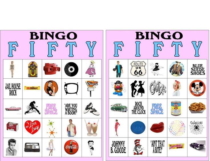 Fifties Sock Hop Bingo Printable