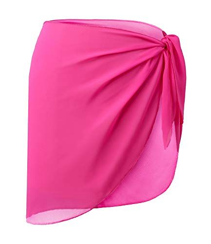 LIENRIDY Womens Sarong Wrap Beach Sarong Swimwear Cover up Swimsuit Wrap Rosy Sh…