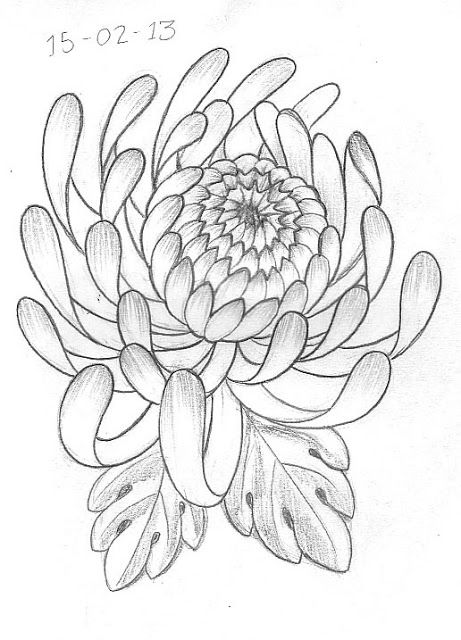 flower tattoo sketch  | day 47 peony and cherry blossoms design