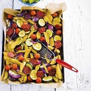 Recept - Ovenschotel met chorizo - Allerhande. Simpeler kan niet! Beetje knoflooksaus erbij en klaar!