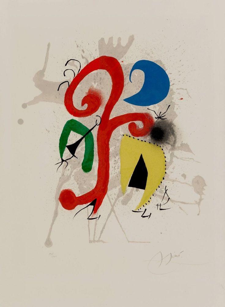 """immafuster: """"Joan Miró """"Jardin au clair de lune"""", 1973 """""""