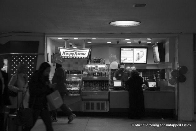 Penn Station Krispy Kreme Donuts - the ONLY Krispy Kreme in NYC!