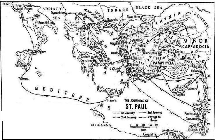 The Apostles Coloring Pages - Map of Paul's journeys | Bible ... | 480x736