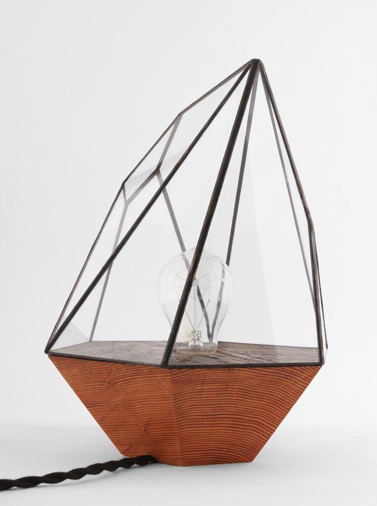 Wood Base Geometric Lamps - artnau   artnau