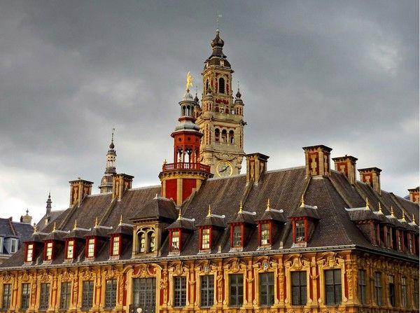 La vieille bourse joyau de l'architecture flamande. Sa construction fut confiée à Julien Destrée sur les ordres du roi d'Espagne Philipe V, et s'acheva en 1653 .