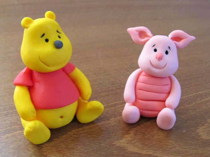 Fondant Winnie the Pooh and Piglet - tutorial -step-by-step tutorial for beginners.