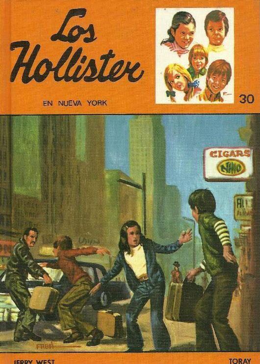 Los Hollisters. Los libros todavía están en casa de mis padres