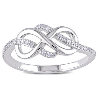 @Overstock - Miadora 10k White Gold 1/6ct TDW Diamond Infinity Ring (H-I, I2-I3) - Round white diamond Infinity ring10-karat white gold jewelryClick here for ring sizing guide    http://www.overstock.com/Jewelry-Watches/Miadora-10k-White-Gold-1-6ct-TDW-Diamond-Infinity-Ring-H-I-I2-I3/9208026/product.html?CID=214117  $265.49