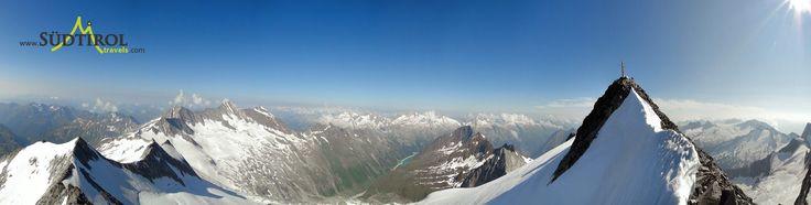 Die Zillertaler Alpen, rechts der Große Möseler