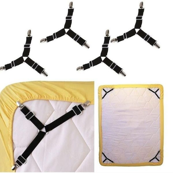2pcs Triangle Bed Mattress Sheet Clips Grippers Straps Suspender Fastener Holder Adjustable Bed Sheet Fixing Devic Bed Mattress Mattress Covers Adjustable Beds