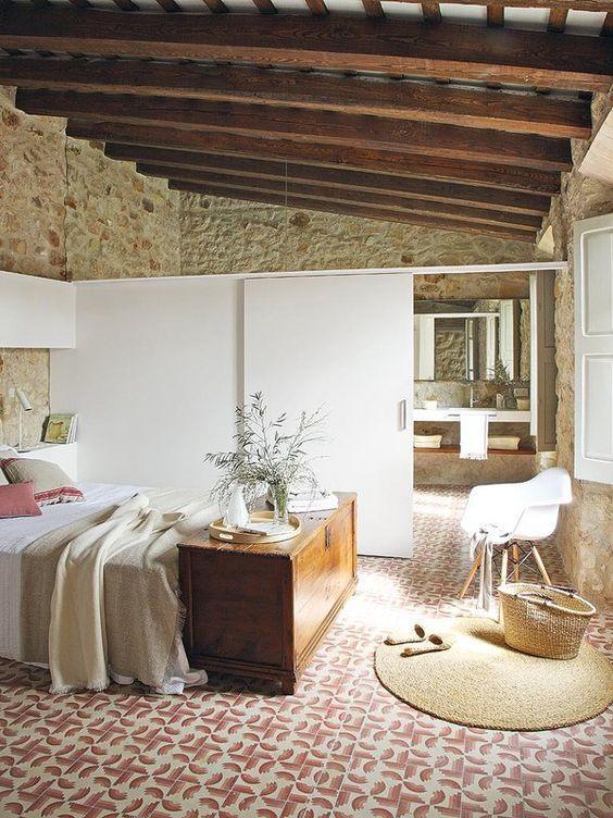 Rustic Interiors, Design Interiors, Rustic Bedrooms, Master Bedrooms,  Bedroom Styles, Bedroom Ideas, Stone Houses, Architecture Interior Design,  House Tours
