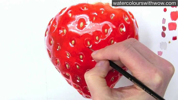 Learn how to paint a shiny looking strawberry in this watercolor techniques how-to video with me, Anna Mason. Then come and join me at my FREE watercolor wor...