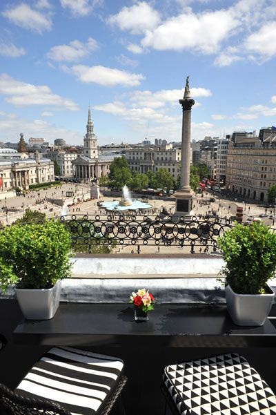 Must visit. Perfect view. Let's get a bite. Vista Bar, Trafalgar Hotel. Fee, nearest Tube, Charing Cross.