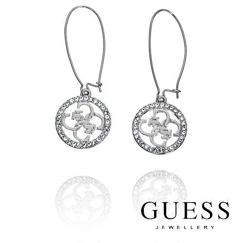 #GUESS #Earrings - Silver Linear Quattro GUESS Logo Earrings was $99.95 NOW $69.99
