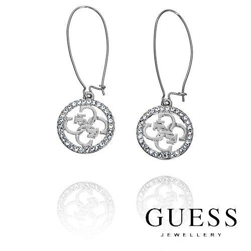 #GUESS #Earrings - Silver Linear Quattro GUESS Logo Earrings was $99.95 NOW $69.99