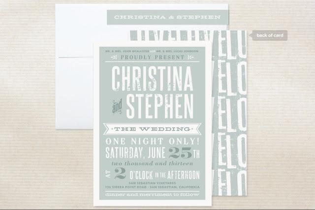 aqua wedding invitation