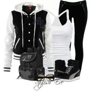Tomboy/relaxed look/sporty look/boyish look all in one! Great for looking cool