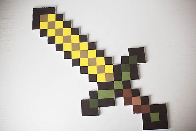 diy minecraft sword printables for wood stone iron