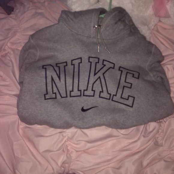 Nike hoodie grey Nike hoodie worn literally once . basically brand new . Nike Tops Sweatshirts & Hoodies