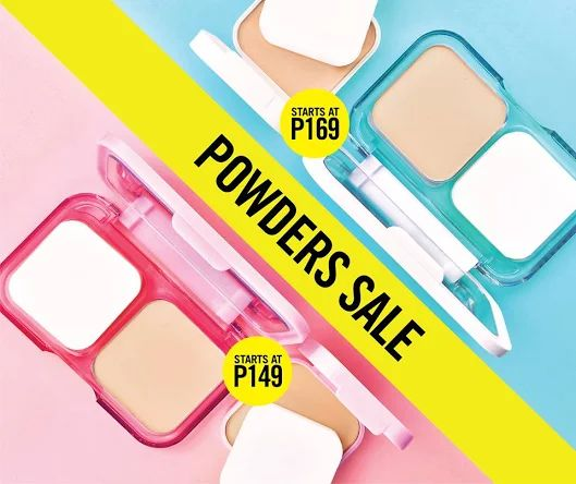 The super powder foundation duo for a super fresh, flawless look is ON SALE!  Check out Maybelline POWDER SALE!  Hurry and grab the White SuperFresh Powder Foundation starting at P169, and the Clear Smooth All-In-One Powder Foundation starting at P149!  Promo valid until July 31, 2016 only!  http://mypromo.com.ph/