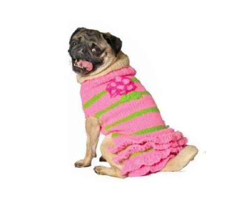 Chilly Dog Pink Flower Skirt Dog Sweater, Large - Apparel & Accessories #Pet #Pets #Accessories #Apparel #Clothes #Clothing #Christmas #Holiday #Holidays #Wish #List #Idea #Ideas #Dog #Dogs #PetAccessoryStore $29
