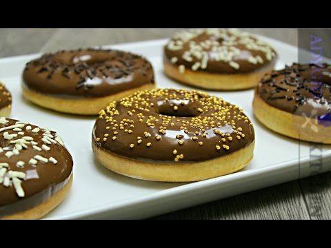 Gogosi la cuptor | Gogosi glazurate cu nutella | Adygio Kitchen - YouTube