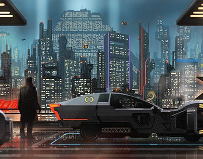 """Check out new work on my @Behance portfolio: """"Blade Runner personal illustration."""" http://be.net/gallery/59600059/Blade-Runner-personal-illustration"""