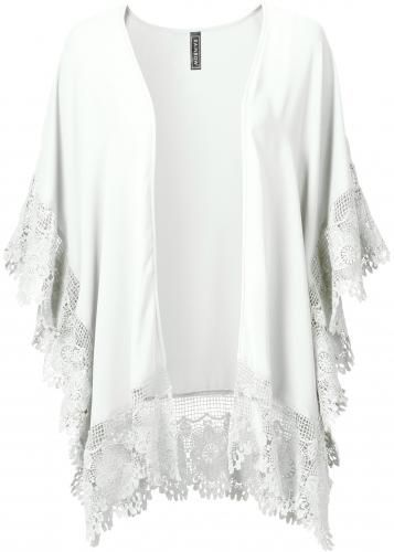 #Rainbow damen kimono con pizzo in bianco: un  ad Euro 39.99 in #Kimono con pizzo bianco rainbow #Donna > moda donna dalla a alla >