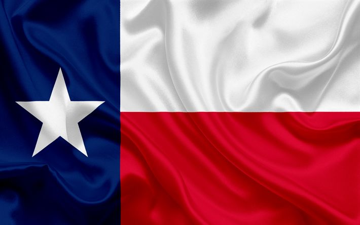 Descargar fondos de pantalla Del Estado de Texas, Bandera, banderas de los Estados, de la bandera del Estado de Texas, estados UNIDOS, estado de Texas, bandera de seda