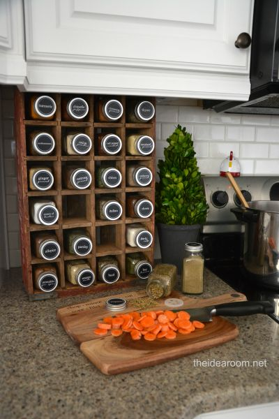 kitchen-organization | theidearoom.net. ALte Dr. Pepper Kiste