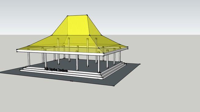 Rumah Jawa - Joglo Kepuhan Limolasan - 3D Warehouse